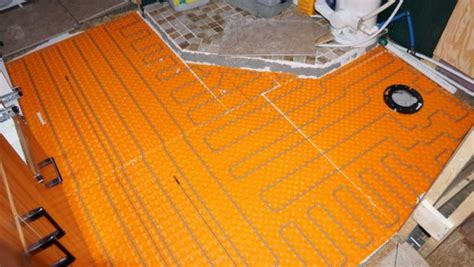 Ditra Heat On Shower Floor - bathroom heated tile floor jdfinley