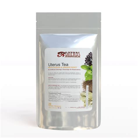 How To Detox Your Reproductive System by Dherbs Uterus Tea 40 Grams Ebay