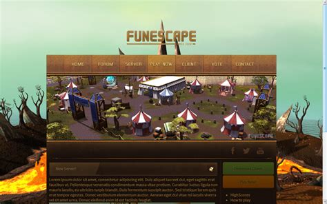 Runescape Card Template by Runescape Server Template2 4 Sale Html By