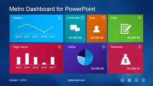 dashboard powerpoint template metro dashboard powerpoint template slidemodel