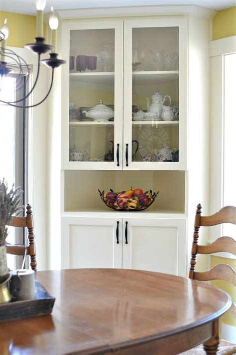 built in cabinets in dining room best 25 corner china cabinets ideas on small