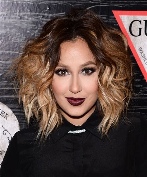 adrienne bailon hair color adrienne bailon medium wavy casual hairstyle