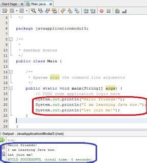 pattern output java tutorial java untuk pemula menilkan output tutorial