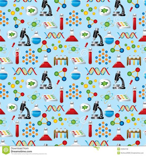 pattern background science science seamless pattern stock vector image of atom