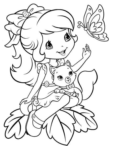 strawberry shortcake 52 coloringcolor com