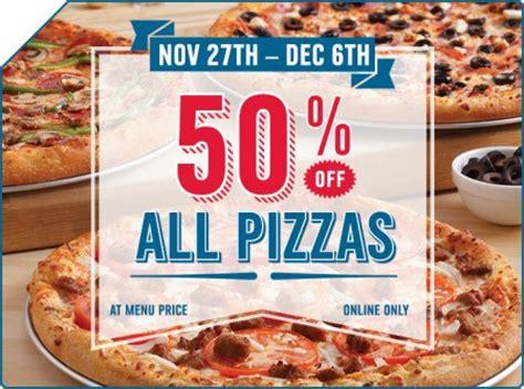 domino pizza edmonton domino s pizza 50 off all pizzas until dec 6