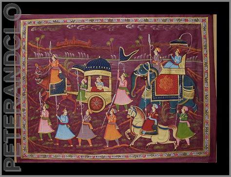 Peinture Sur Tissu Mural by Peinture Sur Soie Ou Tissus Miniature Moghole Peinture