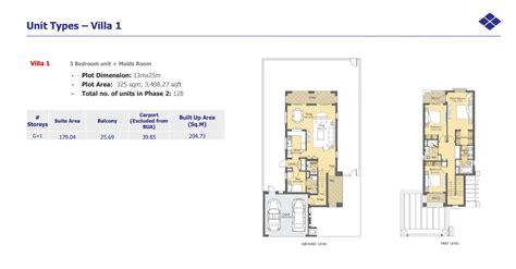 5 Bedroom Floor Plan Floor Plans Villanova Dubai Land By Dubai Properties