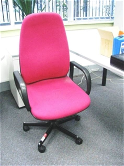 pink office chair australia high back clerical arm chair bright pink fabric