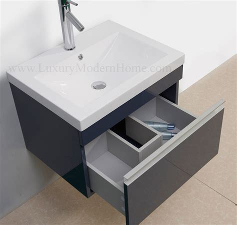 sink floating vanity vanity sink 24 quot gray modern bathroom cabinet wall hung