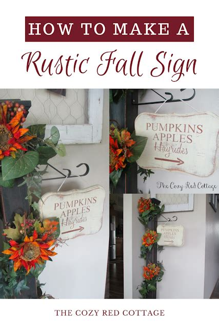 the cozy cottage rustic fall sign tutorial