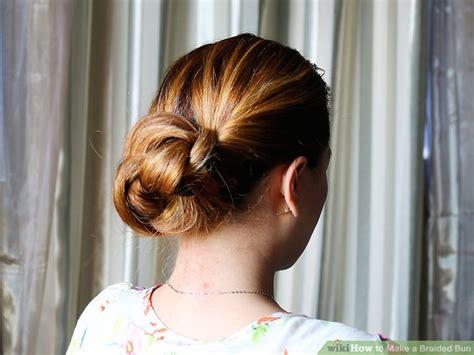 how to make a bun with my braids 4 ways to make a braided bun wikihow