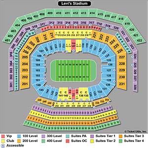 49ers stadium seating view san francisco 49ers tickets 2018 49ers tickets