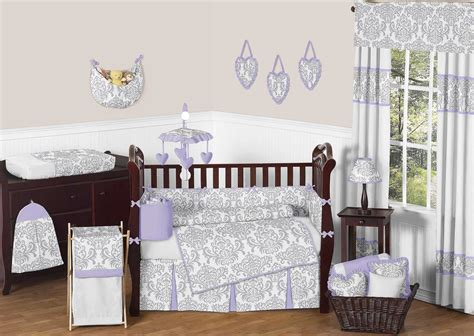 lavender crib bedding sets lavender gray elizabeth crib bedding set by sweet jojo
