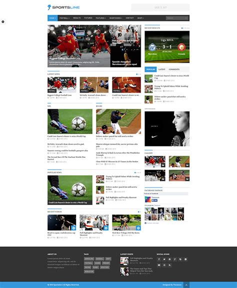 newspaper theme translation 20 awesome wordpress themes for sports related websites