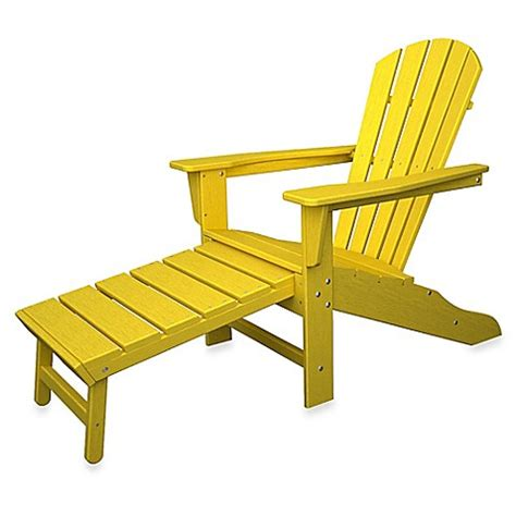 polywood adirondack chair with ottoman buy polywood 174 south adirondack chair with