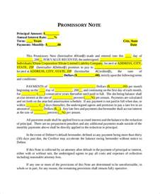Template For Promissory Note For Personal Loan by Promissory Note Template 10 Free Word Pdf Document