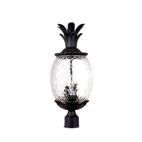 Pineapple Outdoor Light Fixtures Acclaim Lighting Lanai 3 Light Matte Black Outdoor Post Mount Light Fixture 7517bk The Home Depot