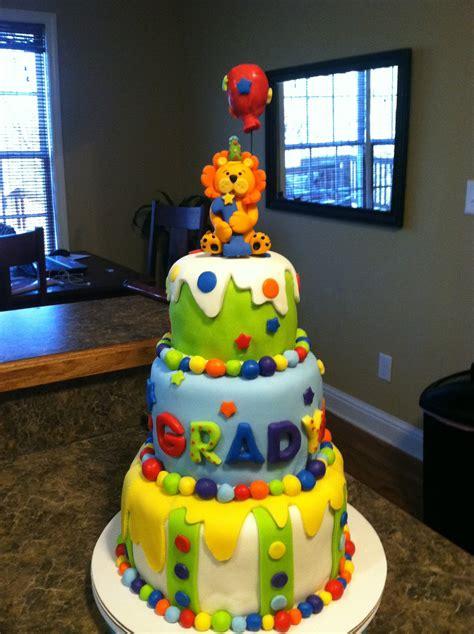 brandi cakes baby boy  birthday circus cake