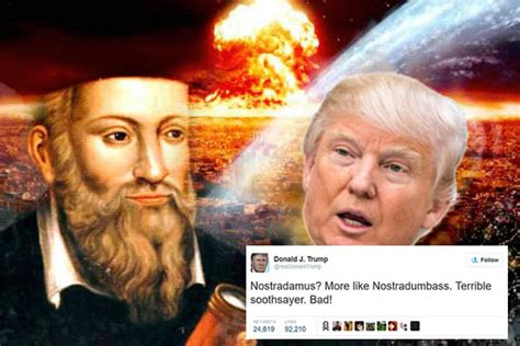 donald trump nostradamus did nostradamus predict election of orange piss goblin