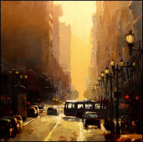 Painting And Cityscapes mann quot downtown sunset quot i want to paint like this