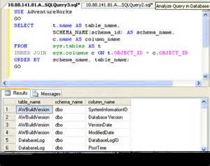 sql all tables sql server query to find column from all tables of
