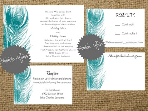 peacock wedding invitations template peacock inspired wedding invitation template invitation