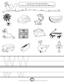 initial sounds worksheet w
