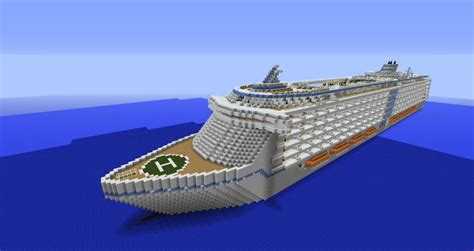 big boat in minecraft huge cruise ship download minecraft project