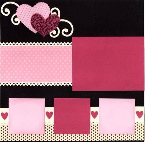 scrapbook layout valentine valentine s day layout scrapbooking cards pinterest