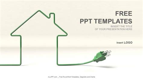 house themes for powerpoint house and wire real estate ppt templates