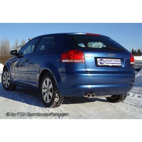 Audi A3 8p Sportauspuff by Audi A3 8p 3 T 252 Rer Endschalld 228 Mpfer 2x76 Typ 13 Fox