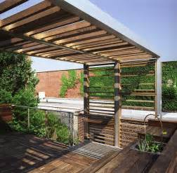 Balcony Bamboo Blinds Urban Trellis Amp Roof Deck Modern Deck New York By
