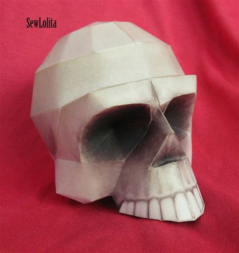 Paper Craft Skull - papercraft skull by sewlolita on deviantart