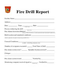 evacuation drill report template drill report template fill printable