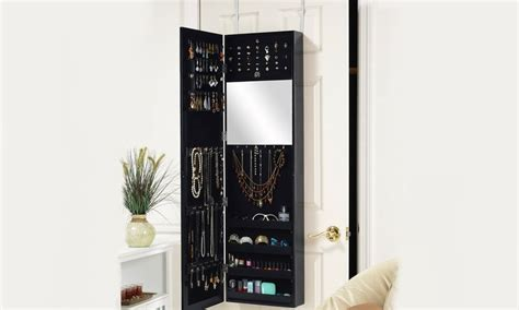 Groupon Jewellery Cabinet by Length Mirror Jewelry Cabinet Groupon