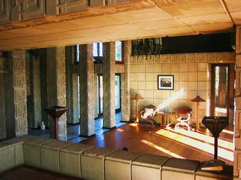 The Wright Interiors by The Of Architecture Houses 101 Ennis House