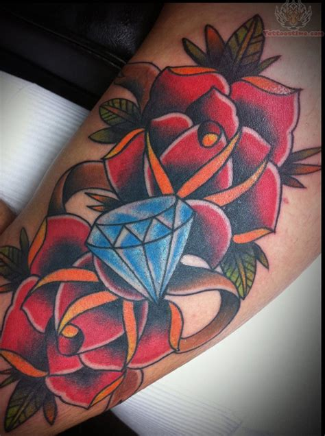 roses and diamonds tattoo 30 traditional tattoos