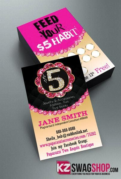 partylite business card template 5 bling jewelry business cards style 11 kz swag shop