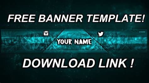 Youtube Banner Template No Text For Free Link In Description Youtube Banner Template No Text