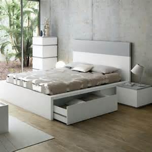 lit design avec tiroirs twist gris 160 cm lit