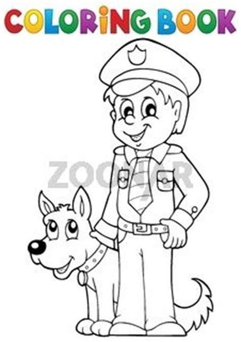 guard dog coloring page pictures policeman and dog coloring pages college