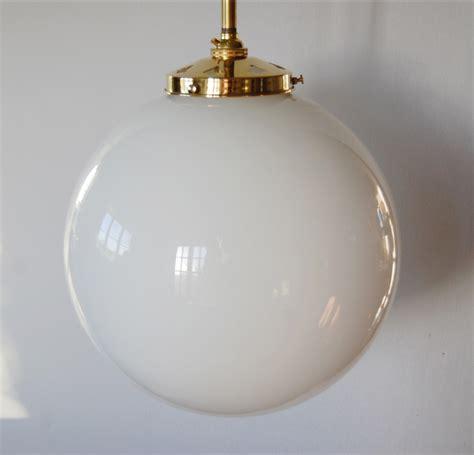 brass 13mm with 12 opal globe pendant l in