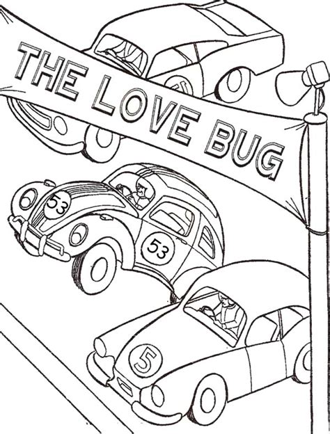 herbie free coloring pages