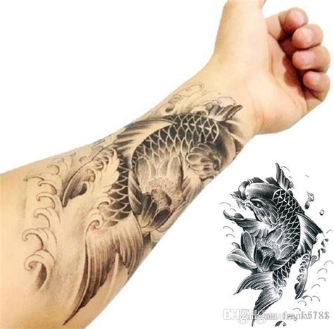 Zahnrad Tattoo Aufkleber by Fish Tattoo Stickers Arm Tattoo Waterproof Temporary