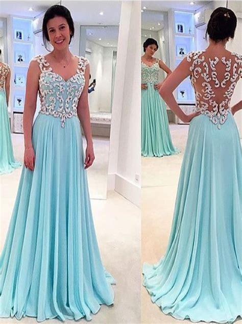 Dress Model Style Pink Blue Brown Impor princess a line floor length sky blue prom dress with