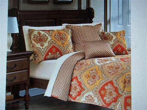 burnt orange coverlet new king size quilt set gold burnt orange paisley