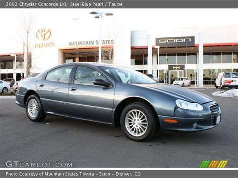 2003 Chrysler Concorde Lxi by Steel Blue Pearl 2003 Chrysler Concorde Lxi Taupe
