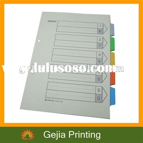Bantex Cardboard Divider A4 12 Pages Jan Dec 6059 Pembatas Binder 2 index divider paper index index divider paper index manufacturers in lulusoso page 1