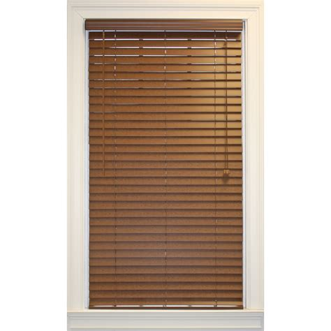 shop style selections 2 in bark faux wood room darkening